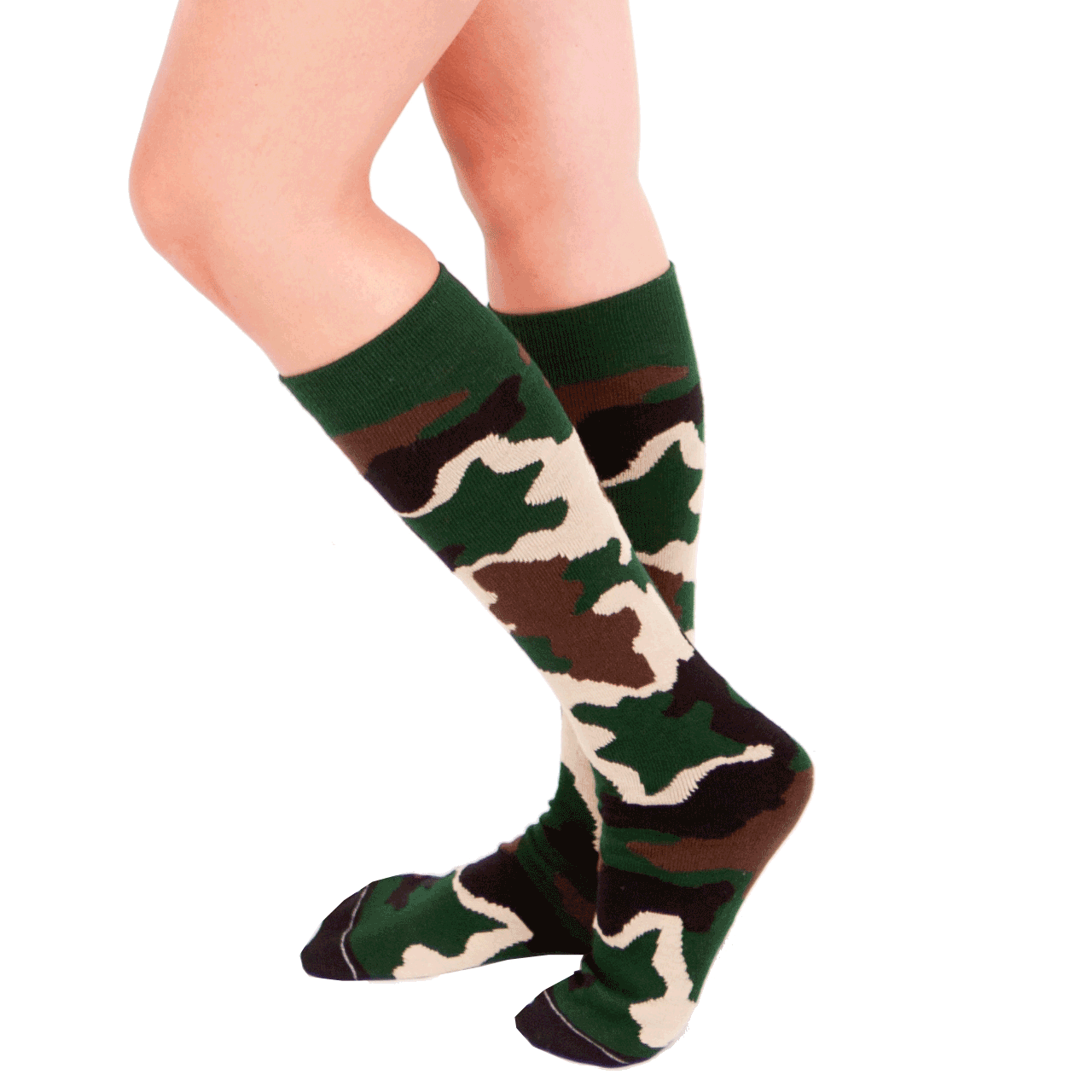 5e850ce2ba1 Army Camouflage Knee Socks