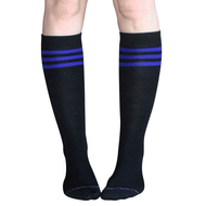 purple and black tube socks