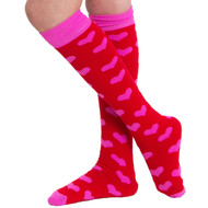 Valentine's day knee high socks