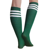 dark green tube socks