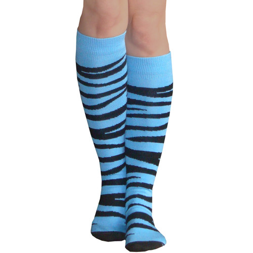 light blue knee high socks