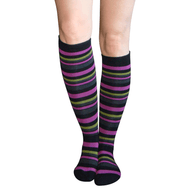 knee hi socks with different color stripes