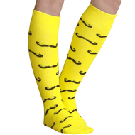 yellow mustache socks