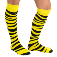 neon yellow zebra knee socks