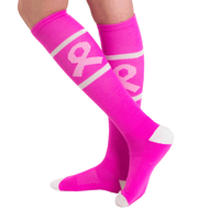 pink ribbon socks