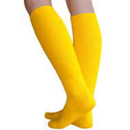 thick solid gold knee socks