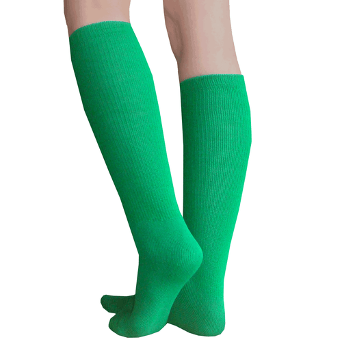 thick green knee socks