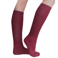 maroon boot socks