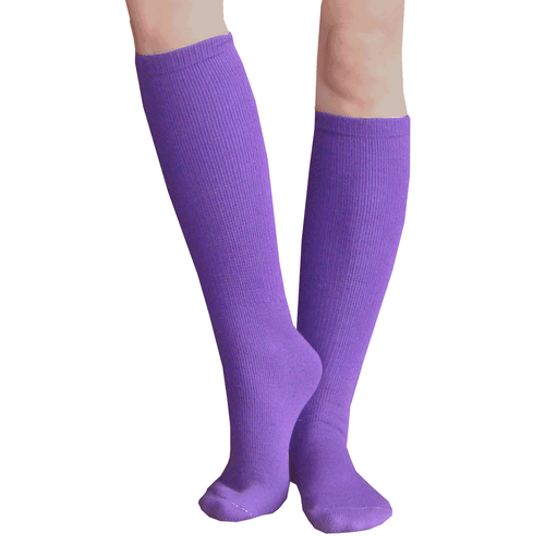 Purple baseball socks