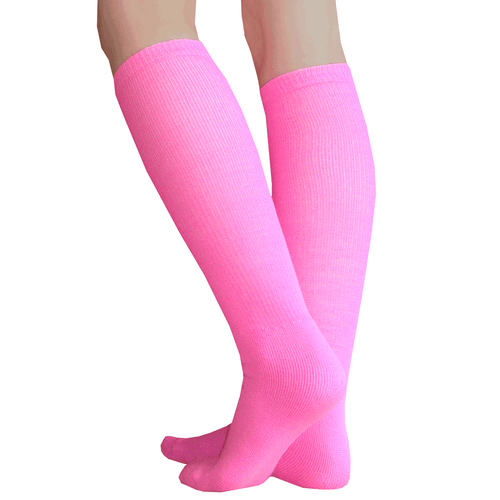 neon pink high socks