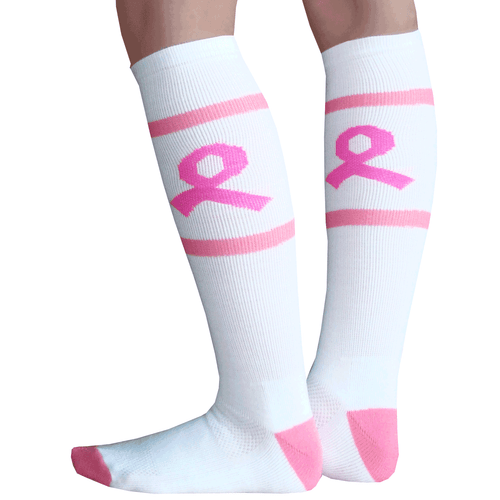 Breast Cancer Ribbon Socks