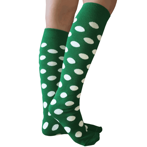 Spotted Green/White Knee Highs