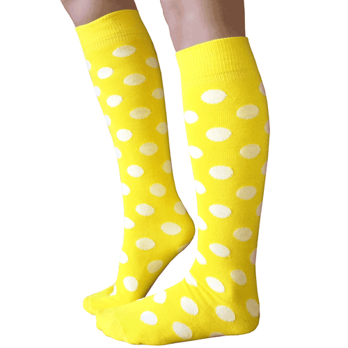 Yellow polka dot socks