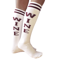 Wine knee high socks