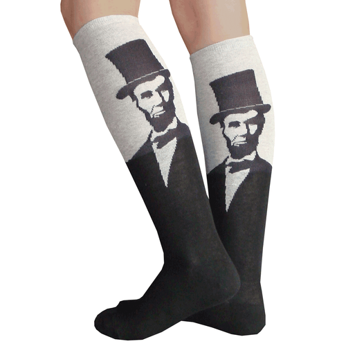 abe lincoln knee hi socks