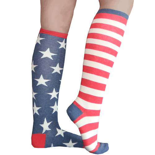vintage flag socks