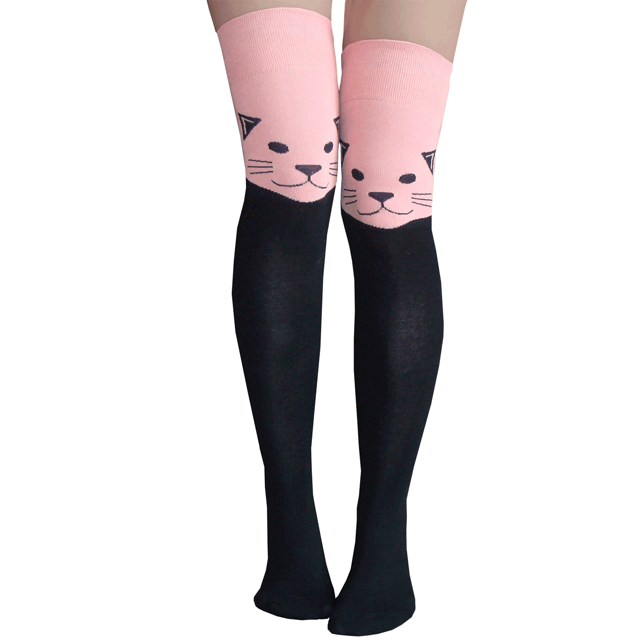 81eb5787327 Cat Thigh Highs in Pink