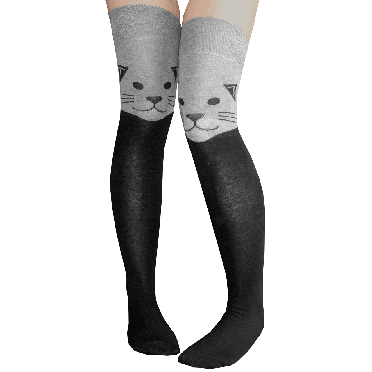 bf39ea806a1 Cat Thigh Highs in Gray
