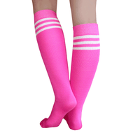 pink/white striped tube socks