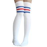 b4775fb59 royal blue and red striped thigh highs