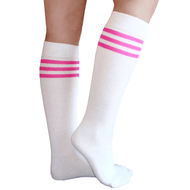 pink striped tube socks