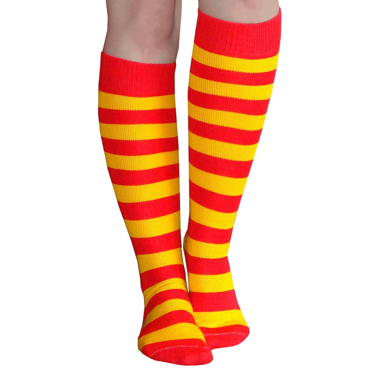 818c232c5e330 Striped Red/Gold Knee Highs