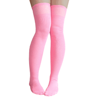 baby pink over the knee socks