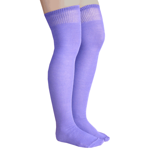 purple thigh highs