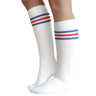 patriotic striped knee highs