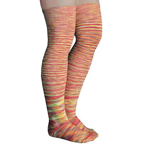 orange space dyed thigh highs