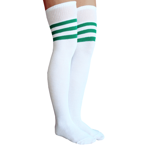 green striped thigh highs
