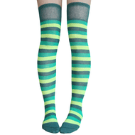green colored over the knee socks