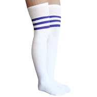 striped purple thigh highs