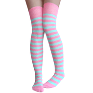 baby pink and mint green thigh highs