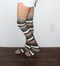 camo striped thigh highs