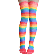 rainbow thigh highs made in america