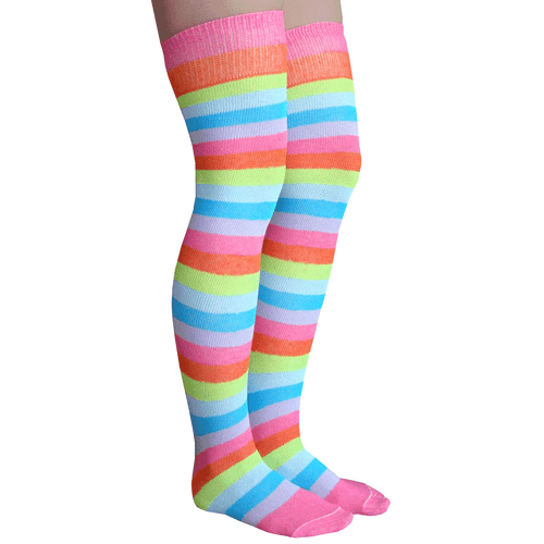 bright rainbow socks made in america
