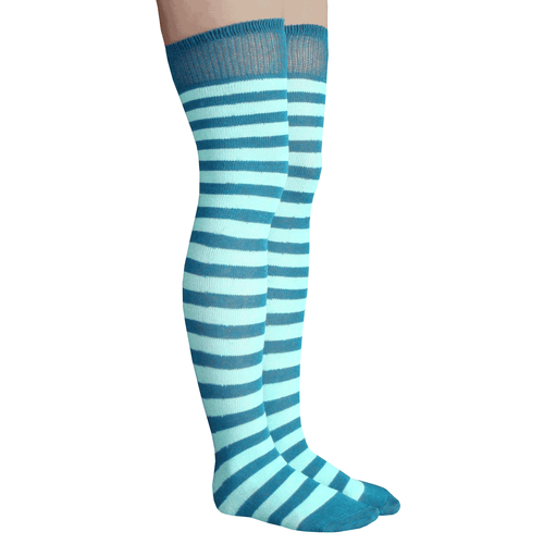 aqua striped socks