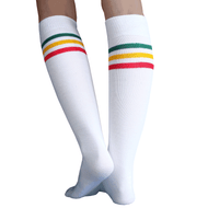 rasta striped tube socks