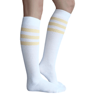 pale yellow tube socks