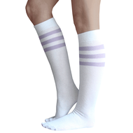 Lilac Striped Tube Socks