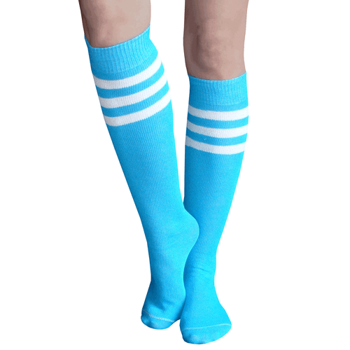 Electric Blue Tube Socks
