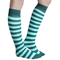 striped mint green and pine socks