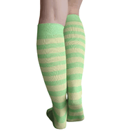 Apple Striped Knee Highs