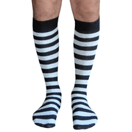 black and light gray striped mens socks