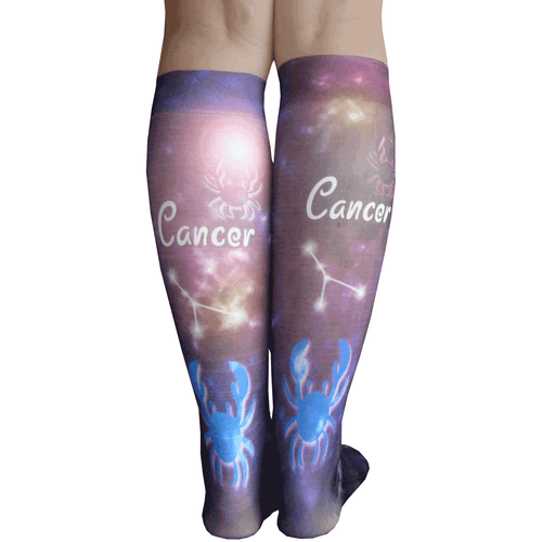 cancer sign socks