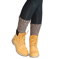brown slouched socks in boots