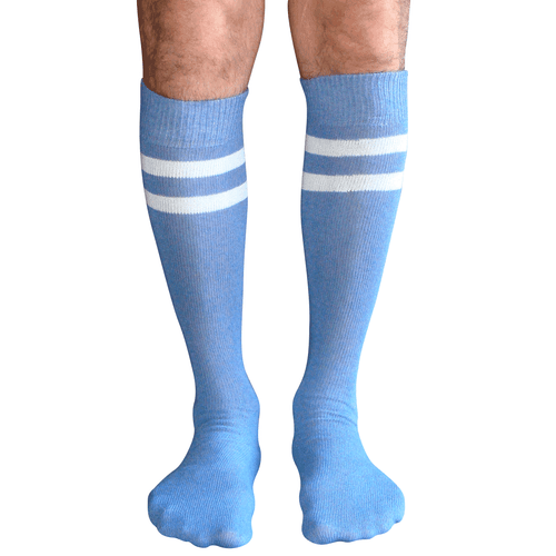 Mens Tube Socks Blue/White