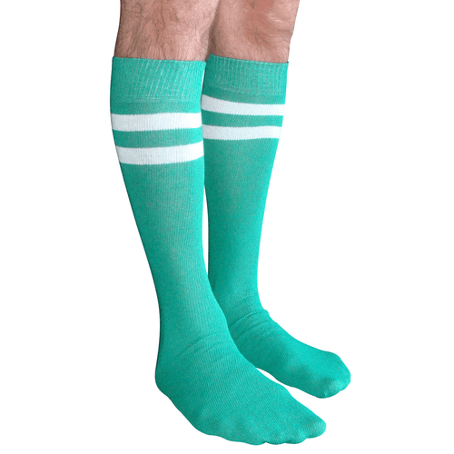 mens green tube socks