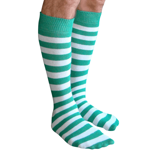 green and white striped mens socks